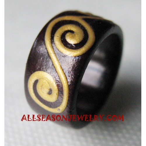 Painting Ring Wooden