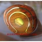 Paua Rings Wooden Material Ethnic Design