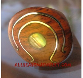 Paua Rings Wooden Material Ethnic Design