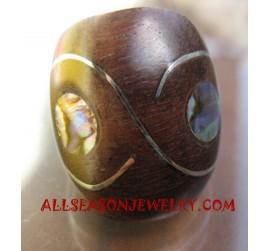 Paua Wooden Rings