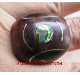 Ring Stainless Wooden