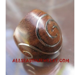 Stainless Ring Wood