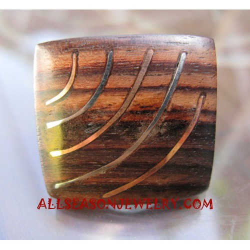 Stainless Ring Wooden Unique Style Bali