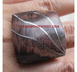 Stainless Rings Wood