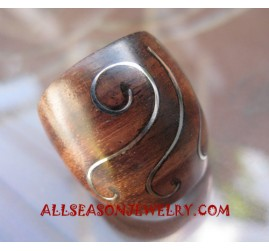 Stainless Wooden Ring