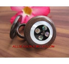 Organic Wooden Rings Shells Handmade