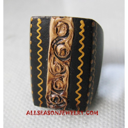 Wood Painted Ring