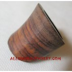Natural Wooden Finger Rings Handmade Design