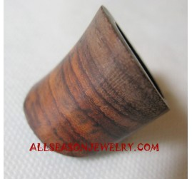 Natural Wooden Finger Rings Handmade Design