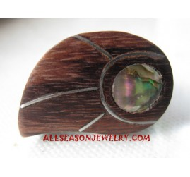 Wood Shell Rings Tears Style