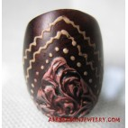 Wooden Ring Painting