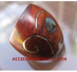 Wooden Ring Paua