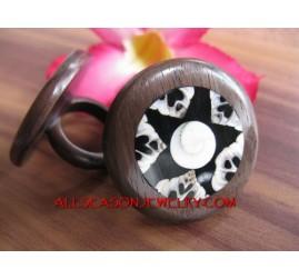 Wooden Rings Organics Shell Resin