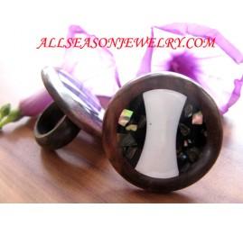 Woods Ring Jewelry Seashells Balinese Design