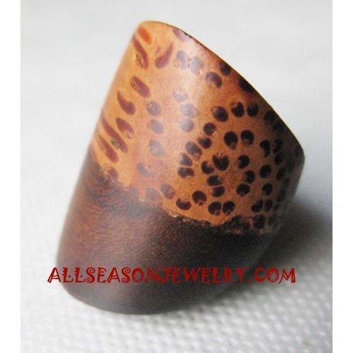 Woods Coconut Finger Rings Natural Design