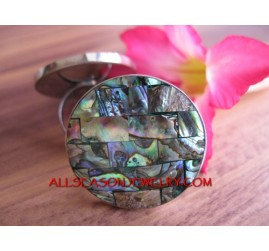 Abalone Organic SeaShells Stainless Steel Finger Ring Natural Design