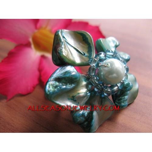 Beading Shells Ring Flowers