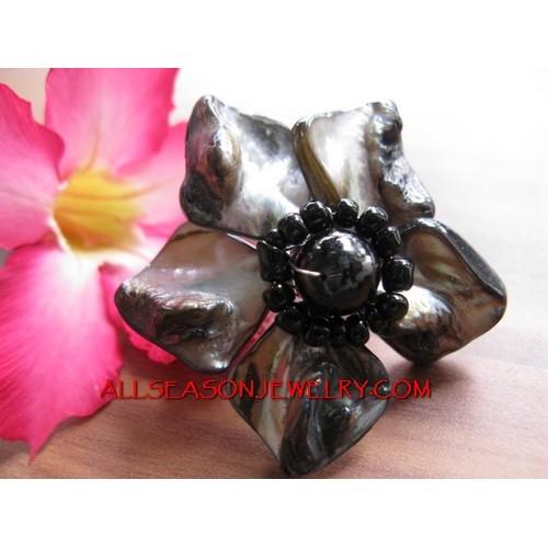 Bead Shells Ring Fashion