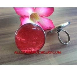 Resin Stainless Finger Rings Bali