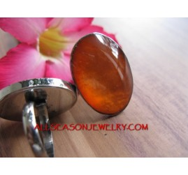 Stainless Ring Resin Pink