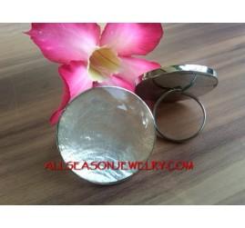Natural Capiz Resin Rings