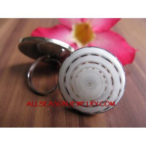 Stainless Ring Nautilus organic