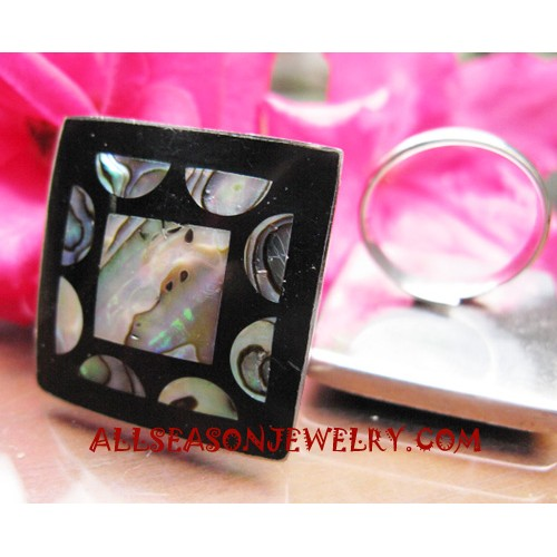 Paua Ring Stainless