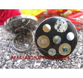 Shell Paua Abalone Mix Rings Seashells Stainless Steel