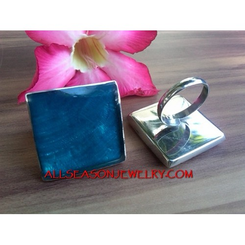 Resin Fashion Stainless Blue