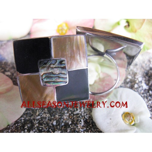 Ring Stainless Paua