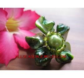 Shells Bead Ring Flower