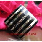 Shell Paua Rings Lines Style
