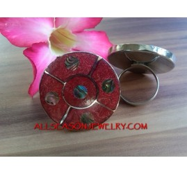 Fashion Ring Coral Stainless