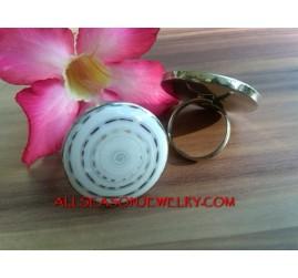 Fashion Ring Organic Nautilus Shells