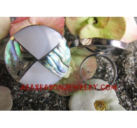 Stainless Abalone Ring