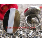 Stainless Steel Finger Resin Ring Seashells