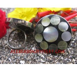 Stainless Ring Seashells