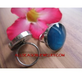 Women Stainless Ring Resin