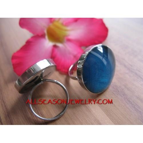 Women Stainless Ring Resin