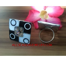 Organic Stainless Shell Rings