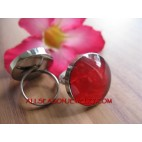 Stainless Fashion Ring Resin