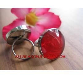 Stainless Fashion Ring Resin