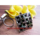 Organic Abalone Shell Rings Women Fashion