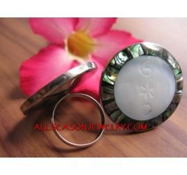 MOP Shell Abalone Rings