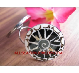 Fashion Finger Ring Stainless Steel Balinese Design