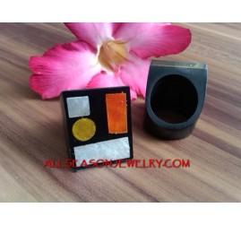Handmade Rings Resin Shell