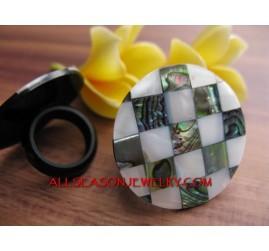 Abalon Ring Fashion Shells