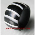 Finger Ring Resin Zebra