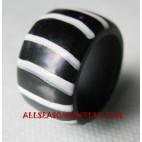 Finger Ring Resin Zebra