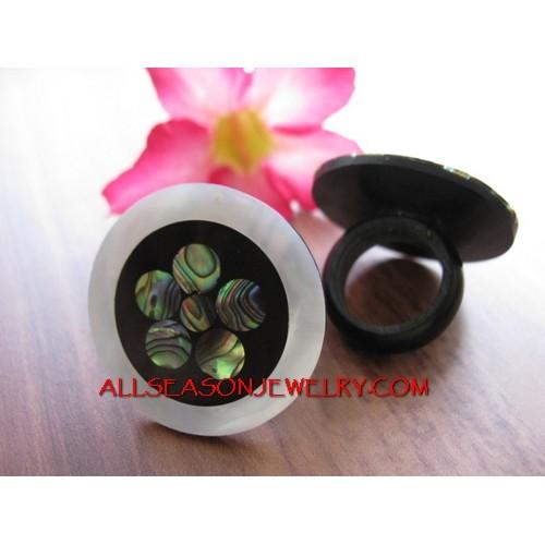Flowers Shells Ring Fashion
